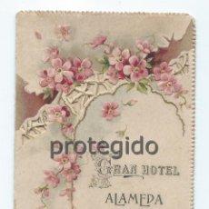 Postales: GRAN HOTEL ALAMEDA. GRANADA. ESPAÑA. S.XX. FRANCISCO ZURITA LE FELICITA EL AÑO NUEVO, EN FRANCÉS.. Lote 101084259