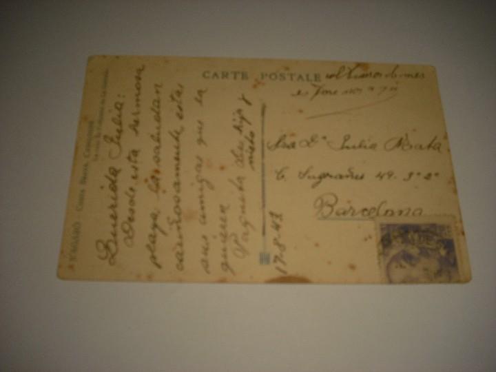 Postales: SAGARO , COSTA BRAVA . LA COUR DE LHOSTAL DE LA GAVINA, CIRCULADA - Foto 2 - 111702267