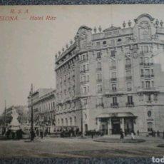 Postales: POSTAL BARCELONA HOTEL RITZ. Lote 121940966