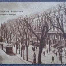 Postales: POSTAL HOTEL ORIENTE LAS RAMBLAS BARCELONA. Lote 121968474