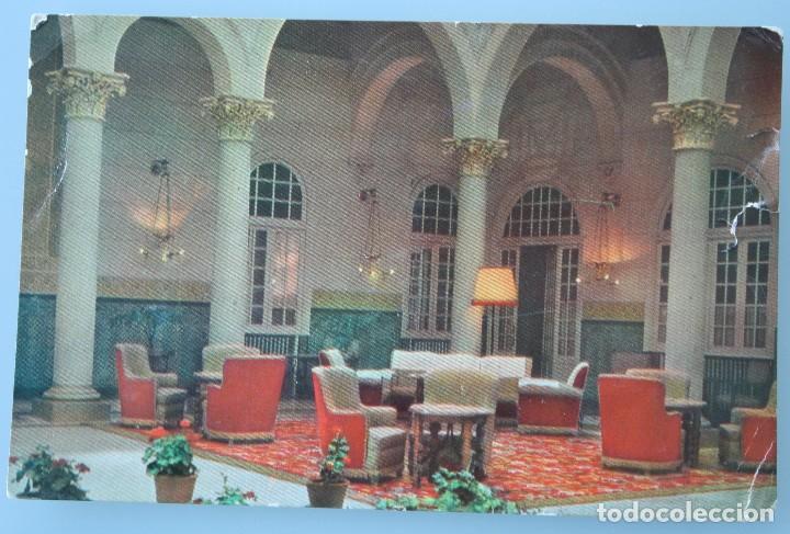 RARA ANTIGUA TARJETA POSTAL HALL HOTEL MIRAMAR MALAGA CADENA HUSA SIN CIRCULAR (Postales - Postales Temáticas - Hoteles y Balnearios)