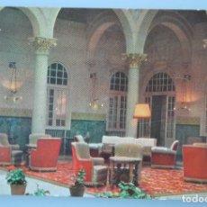Postales: RARA ANTIGUA TARJETA POSTAL HALL HOTEL MIRAMAR MALAGA CADENA HUSA SIN CIRCULAR . Lote 126484215