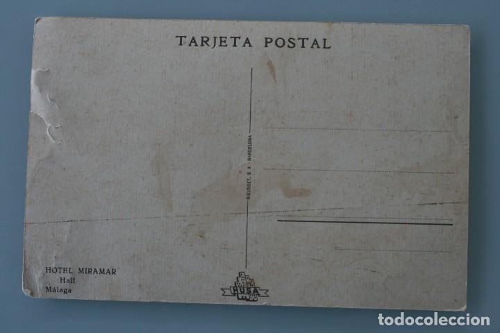 Postales: RARA ANTIGUA TARJETA POSTAL HALL HOTEL MIRAMAR MALAGA CADENA HUSA SIN CIRCULAR - Foto 2 - 126484215