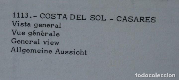 Postales: 3 ANTIGUAS POSTALES CASARES COSTA DEL SOL MALAGA – CALLE TIPICA VISTA GENERAL - SIN CIRCULAR - Foto 2 - 126484863