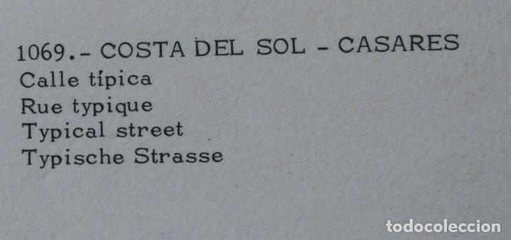 Postales: 3 ANTIGUAS POSTALES CASARES COSTA DEL SOL MALAGA – CALLE TIPICA VISTA GENERAL - SIN CIRCULAR - Foto 3 - 126484863