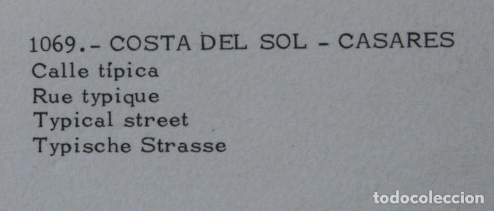 Postales: 3 ANTIGUAS POSTALES CASARES COSTA DEL SOL MALAGA – CALLE TIPICA VISTA GENERAL - SIN CIRCULAR - Foto 4 - 126484863