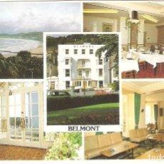 Postales: UK, LLANDUGNO, BELMONT HOTEL, , CIRCULADA CON SU SELLO. Lote 128279803