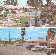 Postales: USA, SANTEE, CALIFORNIA, MANSION-PARK MOTOR LODGE, , CIRCULADA CON SU SELLO. Lote 128280123