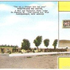 Postales: USA,ALBURQUERQUE, WEATWARD HO MOTEL, SIN CIRCULAR. Lote 128281635