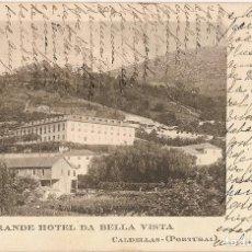 Postales: PORTUGAL & CIRCULADO, ,GRANDE HOTEL DA BELLA VISTA, CALDELLAS, BRAGA, PORTO 1916 (236). Lote 128528523