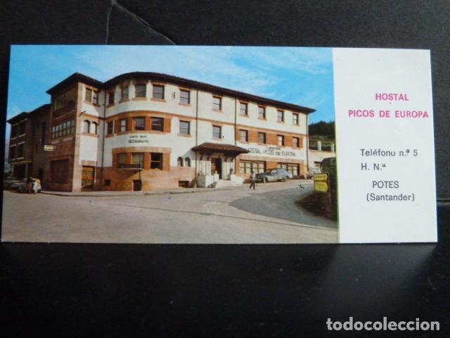 TARJETA DE HOSTAL PICOS DE EUROPA POTES -SANTANDER - (Postales - Postales Temáticas - Hoteles y Balnearios)
