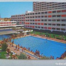 Postales: POSTAL DEL HOTEL FLAMERO , PLAYA DE MATALASCAÑAS ( HUELVA ), AÑOS 60. Lote 133727730