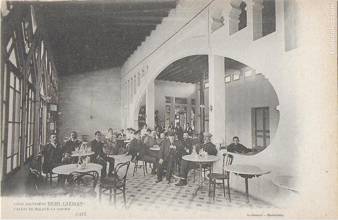 P- 8647. POSTAL GRAN BALNEARIO VICHY CATALAN. CAFE. (Postales - Postales Temáticas - Hoteles y Balnearios)