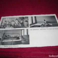 Postales: POSTAL ESPECIAL Y MUY ANTIGUA.BALNEARIO LA PERLA DEL OCÉANO.SAN SEBASTIAN . Lote 135338942