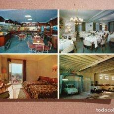 Postales: HOTEL PIRINEOS, SNACH BAR - GARAJE. SIN ESCRIBIR. . Lote 139515162