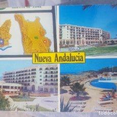 Postales: POSTAL DE MARBELLA (MÁLAGA). NUEVA ANDALUCÍA, PISCINA CLUB LA SIESTA, HOTEL PLAZA. AÑOS 70, SIN CIRC. Lote 139528226