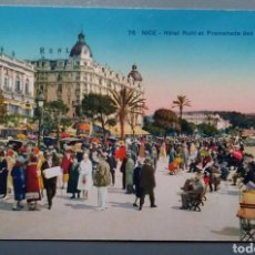 Postales: POSTAL FRANCIA 76 NICE NIZA HOTEL RUHL ET PROMENADES DES ANGLAIS. Lote 139585798