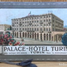 Postales: CUADERNILLO PUBLICITARIO DEL PALACE HOTEL TURÍN - AÑOS 20. Lote 140335418