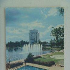 Postales: POSTAL DE FINLANDIA : HOTEL Y PISCINA. AÑOS 60. CIRCULADA A SEVILLA. Lote 140408010