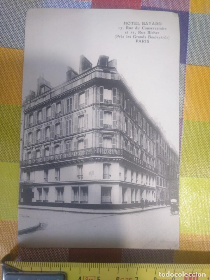 POSTAL ANTIGUA HOTEL BAYARD PARÍS FRANCIA (Postales - Postales Temáticas - Hoteles y Balnearios)