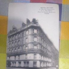 Postales: POSTAL ANTIGUA HOTEL BAYARD PARÍS FRANCIA. Lote 143374482