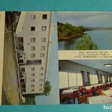Postales: RESTAURANTE HOTEL LA COLGADA. LAGUNAS DE RUIDERA. CIUDAD REAL. Lote 143444510