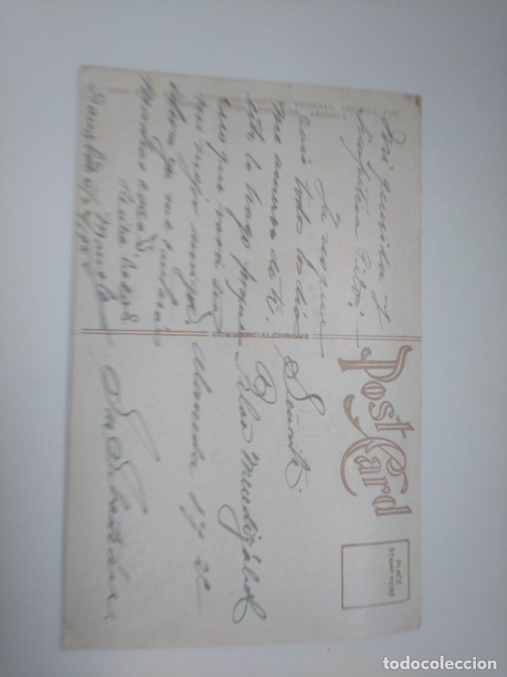 Postales: Postal 1929 hotel Gadsen lobby Douglas, Arizona. Enviada a San Sebastián Gipuzkoa - Foto 2 - 143582482