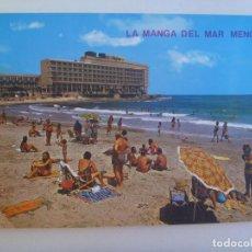Postales: POSTAL DE LA MANGA DEL MAR MENOR ( MURCIA ) : HOTEL GALUA . AÑOS 60.. Lote 146815262