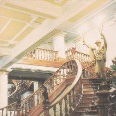 Postales: POSTAL ESCALERA INTERIOR DEL VIDAGO PALACE HOTEL. VIDAGO (PORTUGAL). Lote 147213962