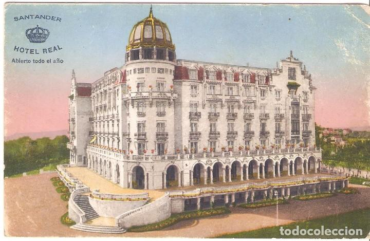 HOTEL, HOTEL REAL, SANTANDER, SIN CIRCULAR (Postales - Postales Temáticas - Hoteles y Balnearios)
