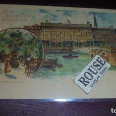 Postales: HOTEL / RESTAURANTE - ANTIGUA POSTAL HOTEL DE L EUROPE LMTD HAMBURG REVERSO SIN DIVIDIR 14X9 CM. . Lote 153071326