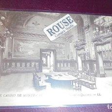 Postales: HOTEL / RESTAURANTE - ANTIGUA POSTAL 52 LE CASINO DE MONTE-CARLO LA SALLE DE TRENTE -ET- QURANTE -LL. Lote 153073394