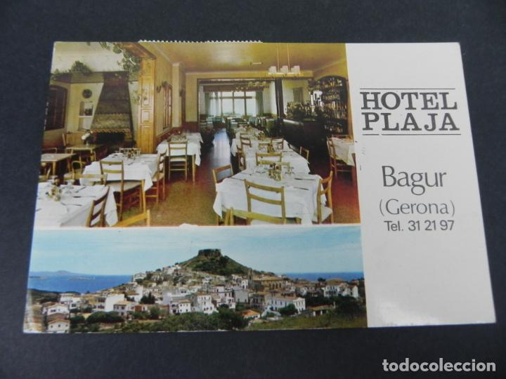 HOTEL PLAJA - BEGUR (GERONA) (CIRCULADA) (Postales - Postales Temáticas - Hoteles y Balnearios)