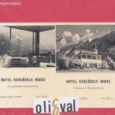 Postales: HOTEL POSTAL HOTEL SCHLÖSSLE VADUZ LIECHTENSTEIN PE02468. Lote 154998082