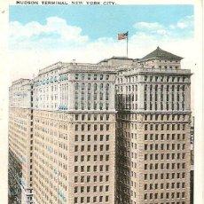 Postales: EDIFICIOS SINGULARES, NEW YORK CITY, HUDSON TERMINAL, SIN CIRCULAR. Lote 155432286