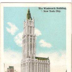 Postales: EDIFICIOS SINGULARES, NEW YORK CITY, THE WOOLWORTH BUILDING, SIN CIRCULAR. Lote 155432326