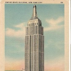 Postales: EDIFICIOS SINGULARES, NEW YORK CITY, EMPIRE STATE BUILDING, SIN CIRCULAR. Lote 155432542