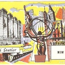 Postales: HOTEL, HOTEL STATLER, NEW YORK , SIN CIRCULAR. Lote 155434146