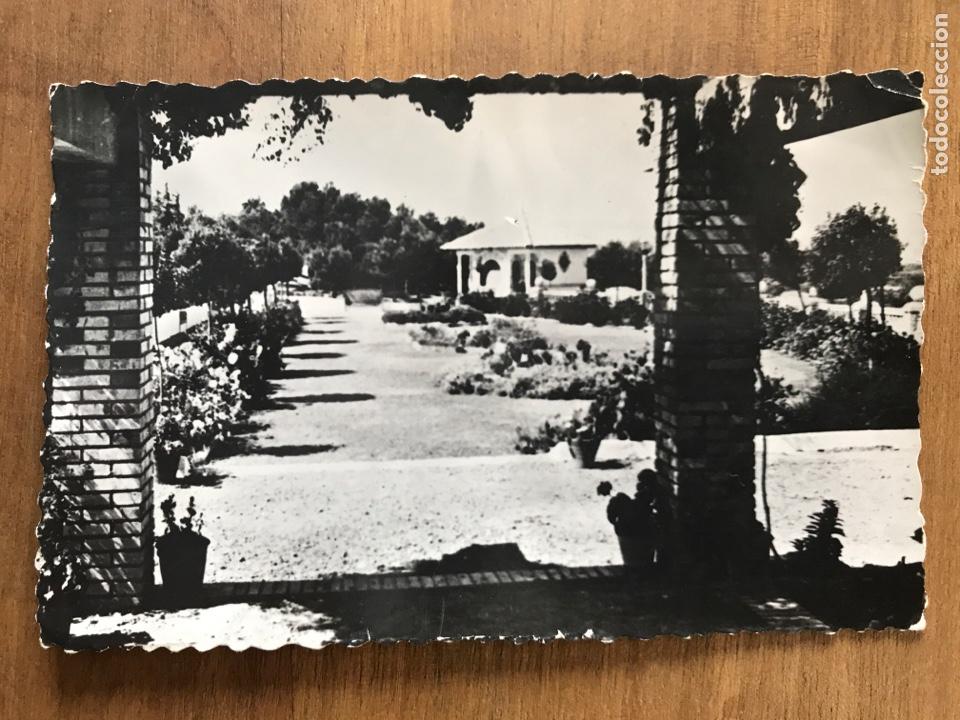 ANTIGUA POSTAL DE CASCANTE, NAVARRA. BAR DEL PARQUE DEL ROMERO (Postales - Postales Temáticas - Hoteles y Balnearios)