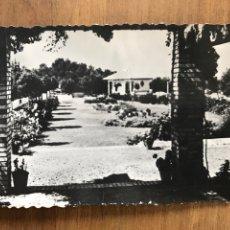 Postales: ANTIGUA POSTAL DE CASCANTE, NAVARRA. BAR DEL PARQUE DEL ROMERO. Lote 158904632