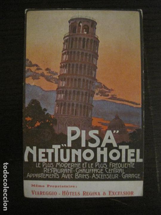 HOTEL NETTUNO-TORRE DE PISA-POSTAL ANTIGUA-VER FOTOS-(58.891) (Postales - Postales Temáticas - Hoteles y Balnearios)