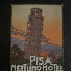 Postales: HOTEL NETTUNO-TORRE DE PISA-POSTAL ANTIGUA-VER FOTOS-(58.891). Lote 161159566