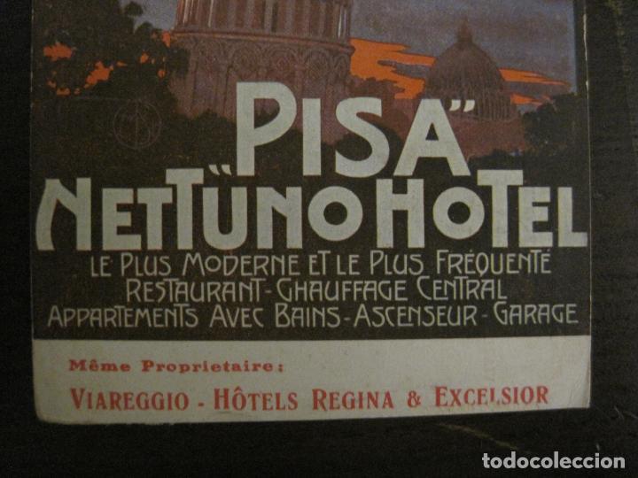 Postales: HOTEL NETTUNO-TORRE DE PISA-POSTAL ANTIGUA-VER FOTOS-(58.891) - Foto 2 - 161159566