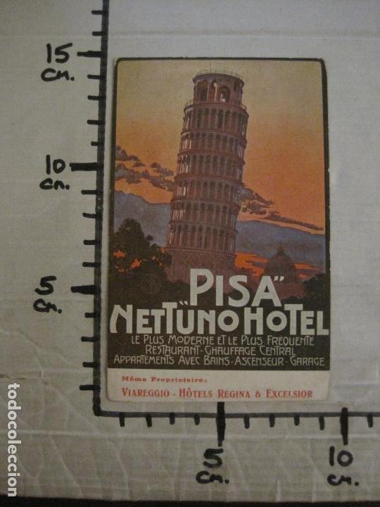 Postales: HOTEL NETTUNO-TORRE DE PISA-POSTAL ANTIGUA-VER FOTOS-(58.891) - Foto 5 - 161159566