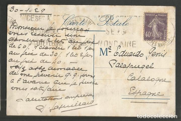 Postales: HOTEL MODERNE-NICE-FRANCIA-POSTAL PUBLICITARIA-VER REVERSO-(59.944) - Foto 2 - 166837930