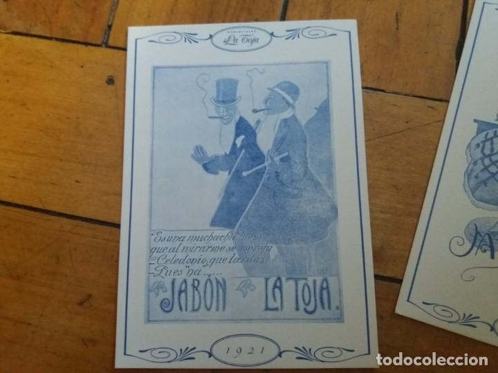 Postales: Lote de 2. Postal publicitaria. Jabones Manantiales La Toja. - Foto 2 - 167606668