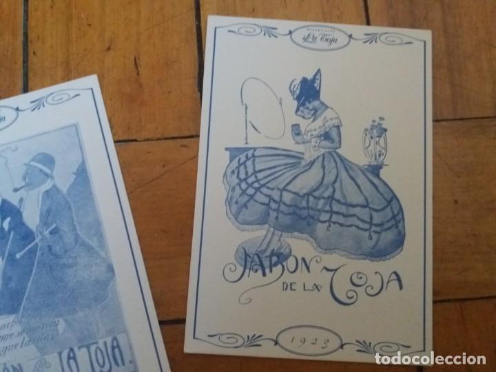Postales: Lote de 2. Postal publicitaria. Jabones Manantiales La Toja. - Foto 3 - 167606668