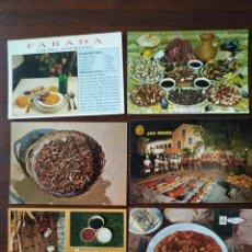 Postales: LOTE DE 6 POSTALES SOBRE LA GASTRONOMÍA ESPAÑOLA, AÑOS 80-90´S .. Lote 170494568