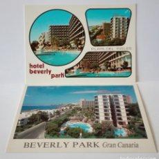 Postales: 2 POSTALES HOTEL BEVERLY PARK GRAN CANARIA SIN CIRCULAR 1979. Lote 172454620
