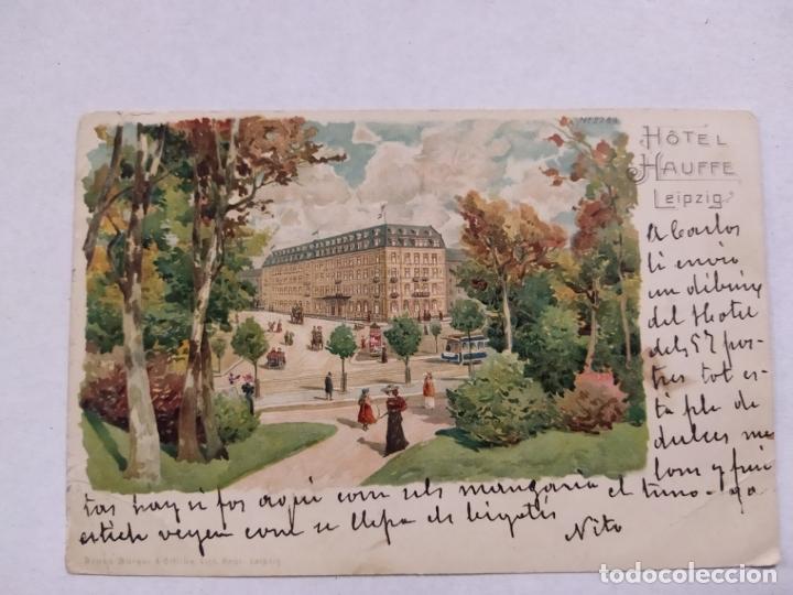 Postales: HOTEL HAUFFE-LEIPZIG-POSTAL PUBLICIDAD HOTEL-VER REVERSO-(61.517) - Foto 2 - 174102040